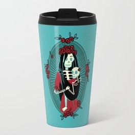 Skeleton Mother & Child - Dia de los Muertos Travel Mug