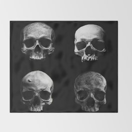 Skulls quartet BW Throw Blanket