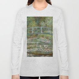 Monet, Water Lilies and Japanese Bridge, 1854 Long Sleeve T-shirt