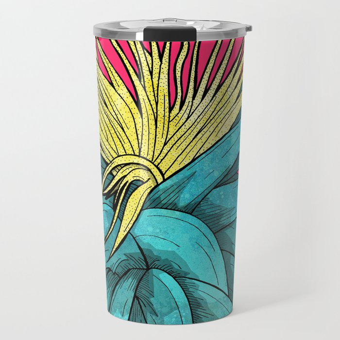 Tropical Plant Travel Mug