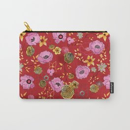 Aurora Larger Floral print Carry-All Pouch
