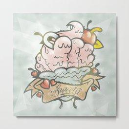 Prince Albert Cupcake Metal Print