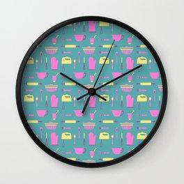 Baking equipment pattern Wall Clock