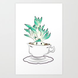 Cute Succulent Art Print