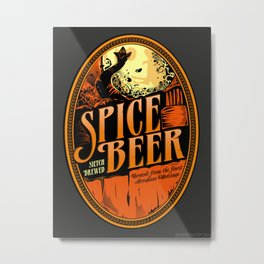 Spice Beer Label Metal Print