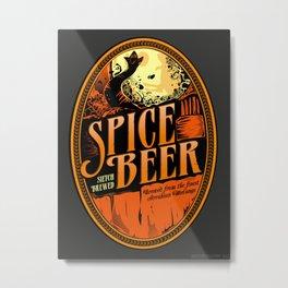 Spice Beer Label Metal Print