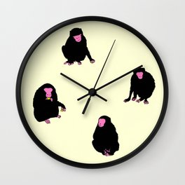 Four Monkeys Wall Clock