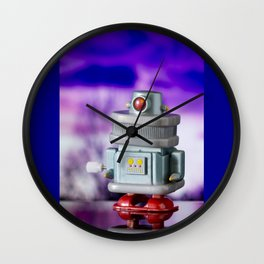 Red Eye Toy Robot Wall Clock