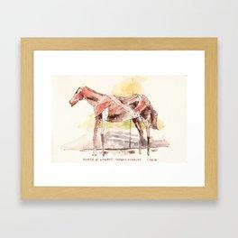 Manetti Shrem Horse Sculpture Framed Art Print