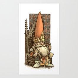 King of the Gnomes Art Print