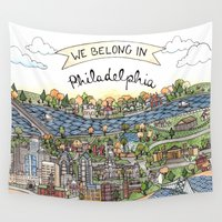 philadelphia Wall Tapestries featuring We Belong in Philadelphia! by Brooke Weeber