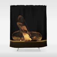 heels Shower Curtains featuring Cinderella's High Heels by Mikito.Designs
