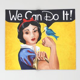 Rosie the Riveter, We Can Do It Throw Blanket