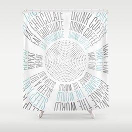 GRAPHIC ART Life Circles | blue Shower Curtain