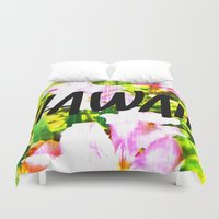 hawaii Duvet Covers featuring Hawaii by mattholleydesign