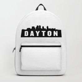 Dayton, Ohio City Skyline Silhouette Backpack