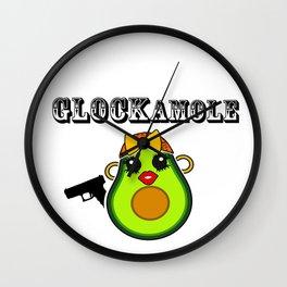 Glockamole Kawaii Avocado Wall Clock