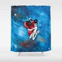 hug Shower Curtains featuring Hug by Leão