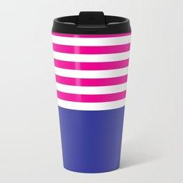 Stripes - Indigo & Pink Travel Mug