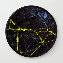 Beyond Gold and Blue Marble Wall Clock