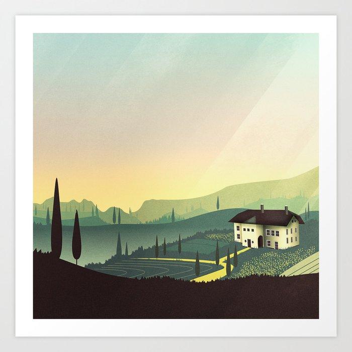Tuscany Fairytale Art Print