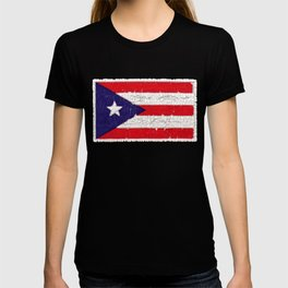 Puerto Rican flag with distressed textures T-shirt