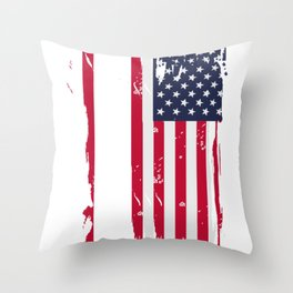 State Of Delware Gift & Souvenir Print Throw Pillow