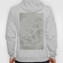 delicate butterflies and textured chevron pattern Hoody