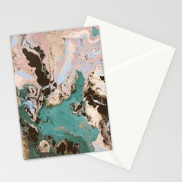 Modern marbled paper Stationery Cards