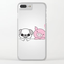 PIG & PUG Clear iPhone Case