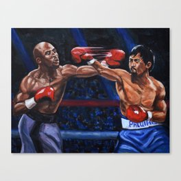 Floyd Mayweather VS Manny Pacquiao 2 Canvas Print