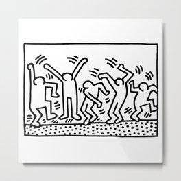 Keith Haring Acrobats  Metal Print