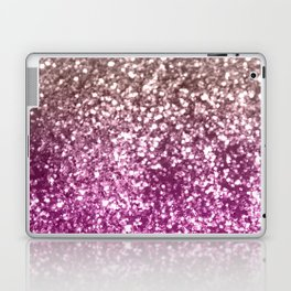 Sparkling BROWN PINK PURPLE Lady Glitter #1 #shiny #decor #art #society6 Laptop & iPad Skin