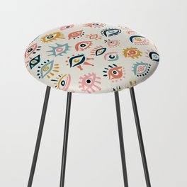 Mystic Eyes – Primary Palette Counter Stool