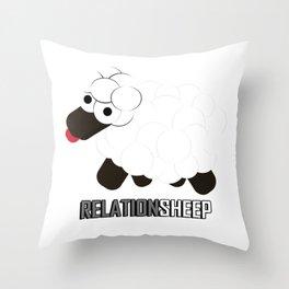 Relationsheep Throw Pillow