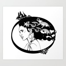 Pirate Nereid Art Print