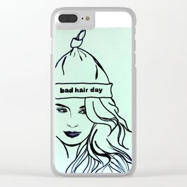Bad Hair Day Clear iPhone Case