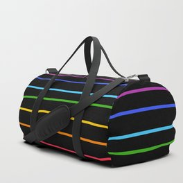 Abstract Retro Stripes #3 Duffle Bag