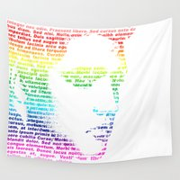 elvis Wall Tapestries featuring Elvis by ron ashkenazi