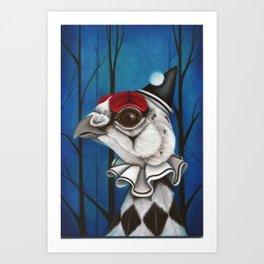 Pierrot the Ptarmigan Art Print