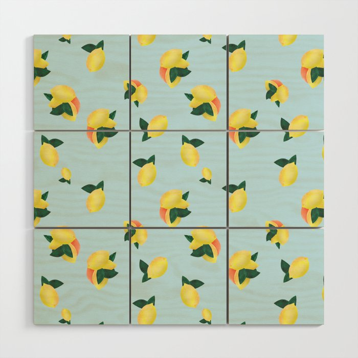 Lemons and Oranges Wood Wall Art
