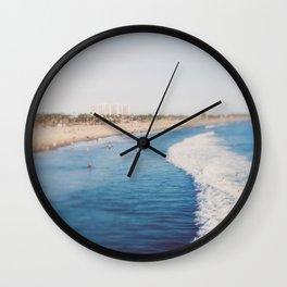 Beach Day at Santa Monica Wall Clock