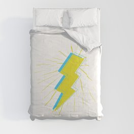 Yellow and blue stylish Lightning bolt Comforters