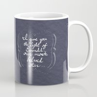 valar morghulis Mugs featuring The Light of Eärendil by Theresa Lammon
