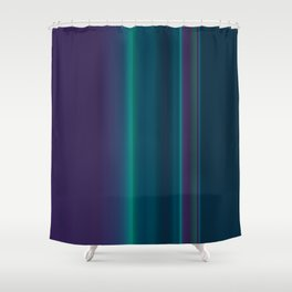 Royal Purple Aqua Stripes Shower Curtain