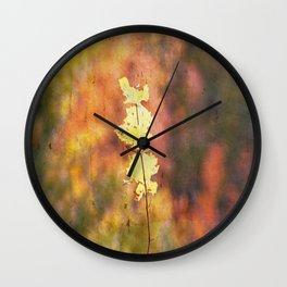Seasonal Closeup - Autumn Wall Clock