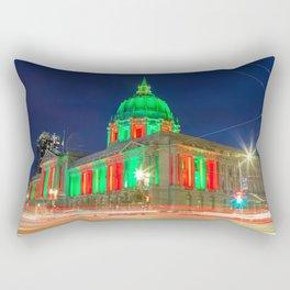 San Francisco City Hall Holiday Light Rectangular Pillow
