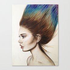 Ombre Hair Canvas Print