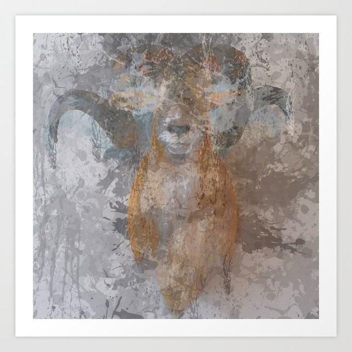 Oil paint buf Art Print