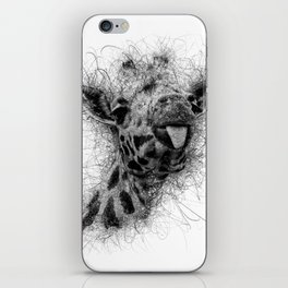 Giraffe line iPhone Skin